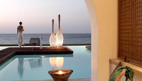 Perfekt utsikt från terrassen på SENTIDO Ixian All Suites.