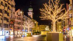 Juldekorationer i Innsbruck, Österrike.