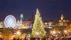 Jul- och nyårstider i Edinburgh.