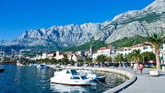 Vacker vy över Makarska rivieran.