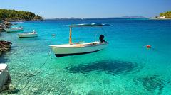 Kristallklart vatten i Kroatien.