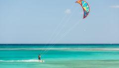 Perfekta förhållande för windsurfing på Fuerteventura.