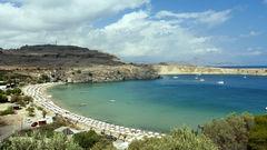 Den vackra stranden Saint Pauls finns på Rhodos.