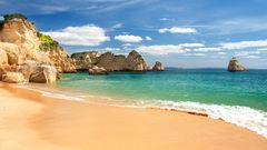 Algarve i Portugal.