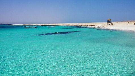 Underbara dykvatten i Hurghada.