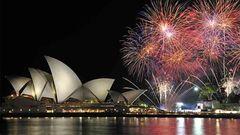 Fyrverkeriet över Sydney Harbour är en speciell syn.