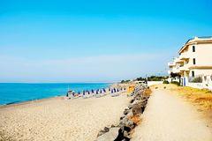Hotellet Villa Nettuno på Sicilien ligger på stranden.