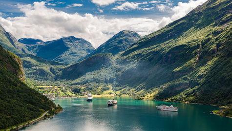 Vackra norska fjordar