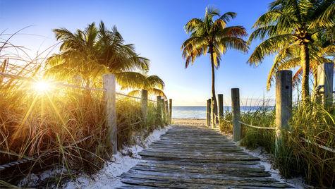 Beach-häng i Florida i november, ja tack.
