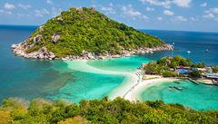 Ö-paradiset Koh Tao, Thailand.