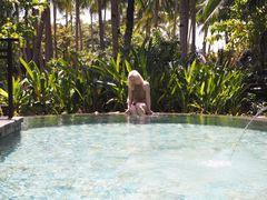 Reseguidens skribent Nina bodde i jungelvilla på Shangri La.
