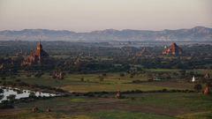 Utsikt över vackra landskap i Burma. Hit kan du resa i februari.