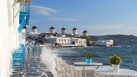 En av de vackraste grekiska öarna är Mykonos.
