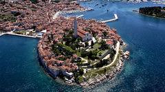 Idylliska Rovinj i Kroatiens norra delar.